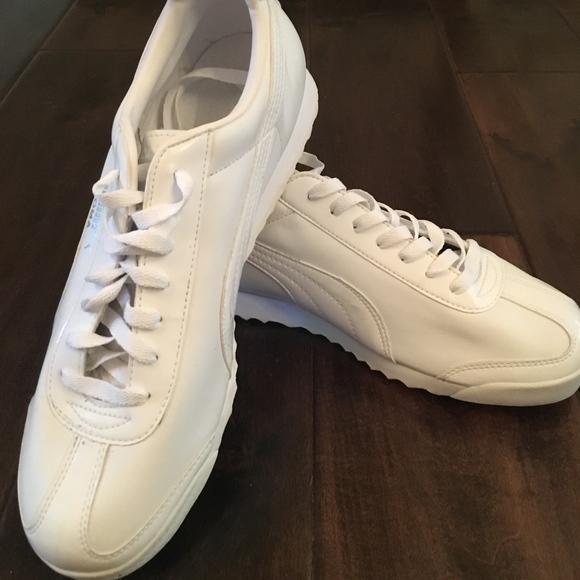 834d78d5e22f NEW PUMA MENS Roma Basic Sneakers Size 10.5 White